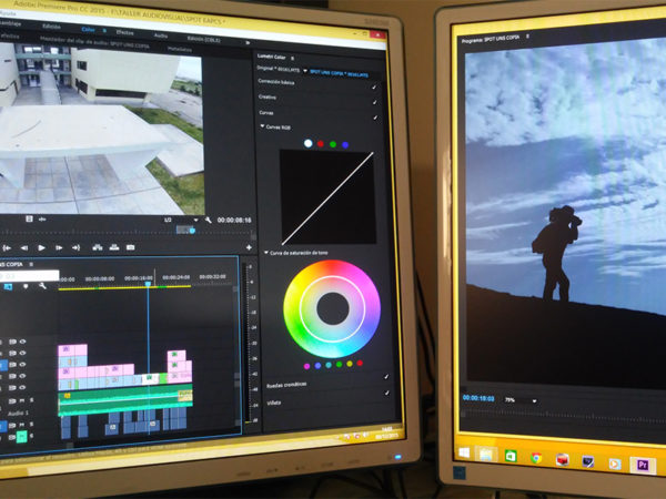 Adobe Premiere y Adobe Photoshop